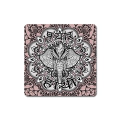 Ornate Hindu Elephant  Square Magnet by Valentinaart