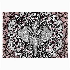 Ornate Hindu Elephant  Large Glasses Cloth (2 Side) by Valentinaart