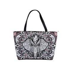 Ornate Hindu Elephant  Shoulder Handbags by Valentinaart