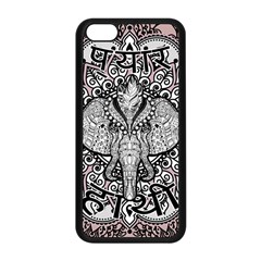 Ornate Hindu Elephant  Apple Iphone 5c Seamless Case (black)