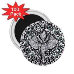 Ornate Hindu Elephant  2 25  Magnets (100 Pack)  by Valentinaart