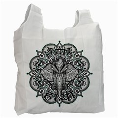 Ornate Hindu Elephant  Recycle Bag (two Side)  by Valentinaart