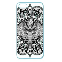 Ornate Hindu Elephant  Apple Seamless Iphone 5 Case (color) by Valentinaart