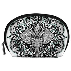 Ornate Hindu Elephant  Accessory Pouches (large)  by Valentinaart