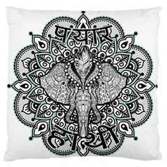 Ornate Hindu Elephant  Large Flano Cushion Case (one Side) by Valentinaart