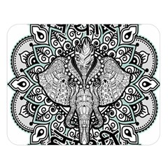 Ornate Hindu Elephant  Double Sided Flano Blanket (large)  by Valentinaart