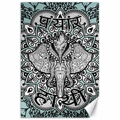 Ornate Hindu Elephant  Canvas 20  X 30   by Valentinaart