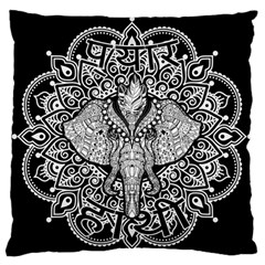 Ornate Hindu Elephant  Standard Flano Cushion Case (one Side) by Valentinaart