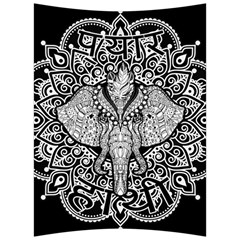 Ornate Hindu Elephant  Back Support Cushion by Valentinaart