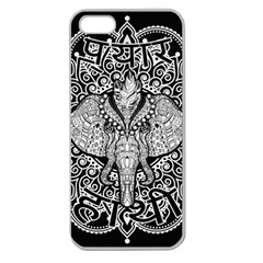 Ornate Hindu Elephant  Apple Seamless Iphone 5 Case (clear) by Valentinaart