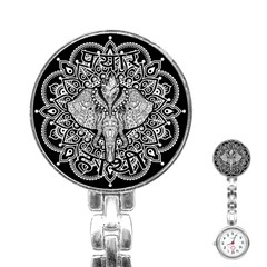 Ornate Hindu Elephant  Stainless Steel Nurses Watch