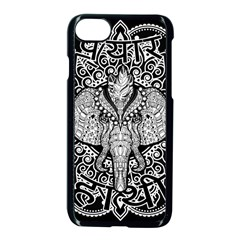Ornate Hindu Elephant  Apple Iphone 7 Seamless Case (black)