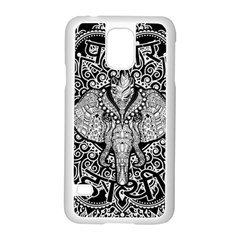 Ornate Hindu Elephant  Samsung Galaxy S5 Case (white)
