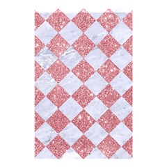 Square2 White Marble & Pink Glitter Shower Curtain 48  X 72  (small)  by trendistuff