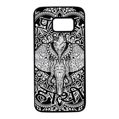 Ornate Hindu Elephant  Samsung Galaxy S7 Black Seamless Case