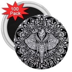 Ornate Hindu Elephant  3  Magnets (100 Pack) by Valentinaart