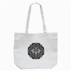 Ornate Hindu Elephant  Tote Bag (white) by Valentinaart