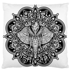 Ornate Hindu Elephant  Standard Flano Cushion Case (two Sides) by Valentinaart