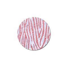 Skin4 White Marble & Pink Glitter Golf Ball Marker (10 Pack) by trendistuff