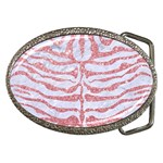 SKIN2 WHITE MARBLE & PINK GLITTER (R) Belt Buckles Front