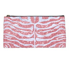 Skin2 White Marble & Pink Glitter Pencil Cases by trendistuff