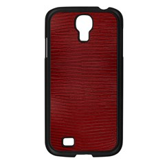 Red Lizard Leather Print Samsung Galaxy S4 I9500/ I9505 Case (black)