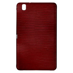 Red Lizard Leather Print Samsung Galaxy Tab Pro 8 4 Hardshell Case by LoolyElzayat