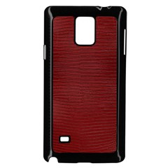 Red Lizard Leather Print Samsung Galaxy Note 4 Case (black)