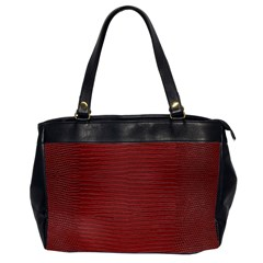 Red Lizard Leather Print Office Handbags (2 Sides)