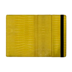 Yellow Alligator Skin Apple Ipad Mini Flip Case