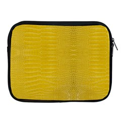 Yellow Alligator Skin Apple Ipad 2/3/4 Zipper Cases by LoolyElzayat