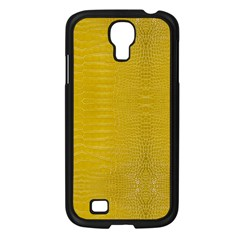 Yellow Alligator Skin Samsung Galaxy S4 I9500/ I9505 Case (black) by LoolyElzayat