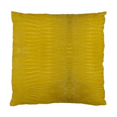 Yellow Alligator Skin Standard Cushion Case (two Sides) by LoolyElzayat