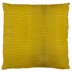 Yellow Alligator Skin Standard Flano Cushion Case (two Sides)