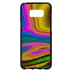 Colorful Waves Samsung Galaxy S8 Plus Black Seamless Case
