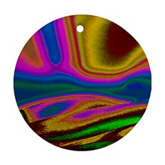 Colorful Waves Ornament (round)