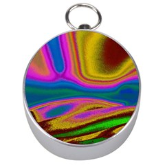 Colorful Waves Silver Compasses
