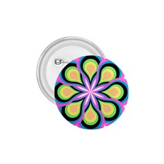 Colorful Feathers Mandala 1 75  Buttons