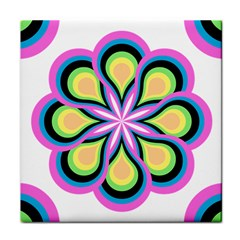 Colorful Feathers Mandala Face Towel