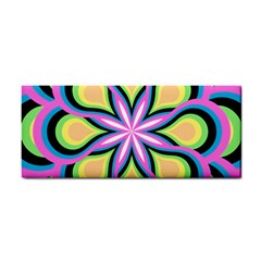Colorful Feathers Mandala Hand Towel