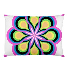 Colorful Feathers Mandala Pillow Case