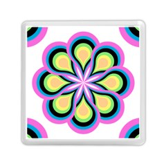 Colorful Feathers Mandala Memory Card Reader (square)
