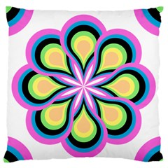 Colorful Feathers Mandala Standard Flano Cushion Case (one Side)