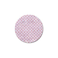 Scales3 White Marble & Pink Glitter (r) Golf Ball Marker (10 Pack) by trendistuff