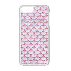 Scales3 White Marble & Pink Glitter (r) Apple Iphone 7 Plus Seamless Case (white) by trendistuff
