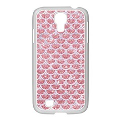 Scales3 White Marble & Pink Glitter Samsung Galaxy S4 I9500/ I9505 Case (white) by trendistuff
