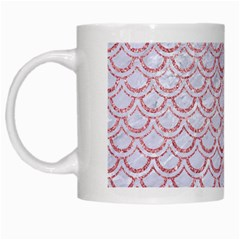Scales2 White Marble & Pink Glitter (r) White Mugs by trendistuff
