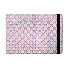 Scales2 White Marble & Pink Glitter (r) Apple Ipad Mini Flip Case by trendistuff