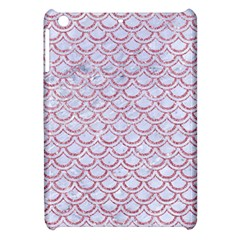 Scales2 White Marble & Pink Glitter (r) Apple Ipad Mini Hardshell Case by trendistuff