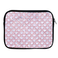 Scales2 White Marble & Pink Glitter (r) Apple Ipad 2/3/4 Zipper Cases by trendistuff